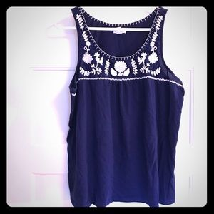 OLD NAVY Embroidered Tank Navy XL